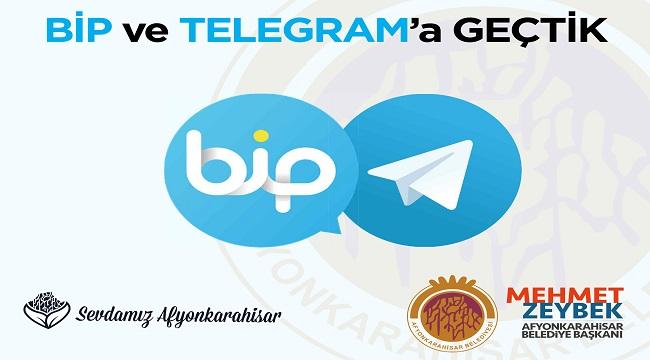 AFYONKARAHİSAR BELEDİYESİ BİP VE TELEGRAM'A GEÇTİ