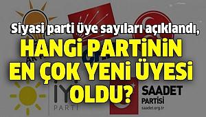 SİYASİ PARTİLERİN ÜYE SAYILARI GÜNCELLENDİ!..